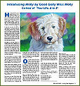 Molly's column in Loving Pets Magazine